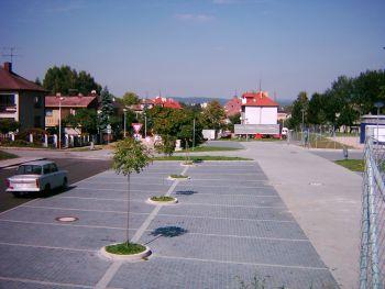 pokládka zámkové dlažby - parkoviště